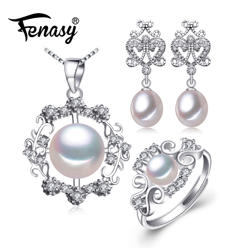 FENASY 925 Sterling Silver earrings with stones,natural Pearl jewelry sets for women,bohemian set ethnic earrings rings jady rose vintage black women knee high boots lace up side zip platform high boots thick heel flat martin boot for autumn winter