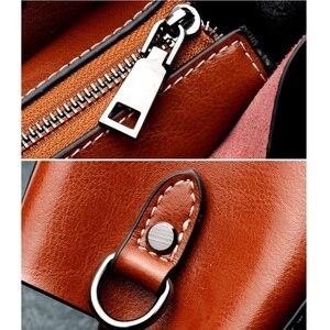 Image 5 - Vintage kadın çanta hakiki deri geniş omuz sapanlar Crossbody çanta kadın yeni stil küçük bayanlar çanta moda omuzdan askili çanta