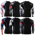 Camadas de base calças masculinas homens tee shirt clothing camisa 3d imprime crossfit aptidão compressão skin tamanho s-4xl