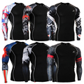 Capas de base camisa de compresión medias masculinas hombres camiseta clothing impresiones 3d gimnasio crossfit skin tamaño s-4xl