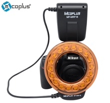 Mcoplus MP-MRF18 Super Bright LED Macro Ring Flash Light for Nikon D7100 D7000 D800 D750 D600 D5300 D5200 D5100 D3300 D3100(China)