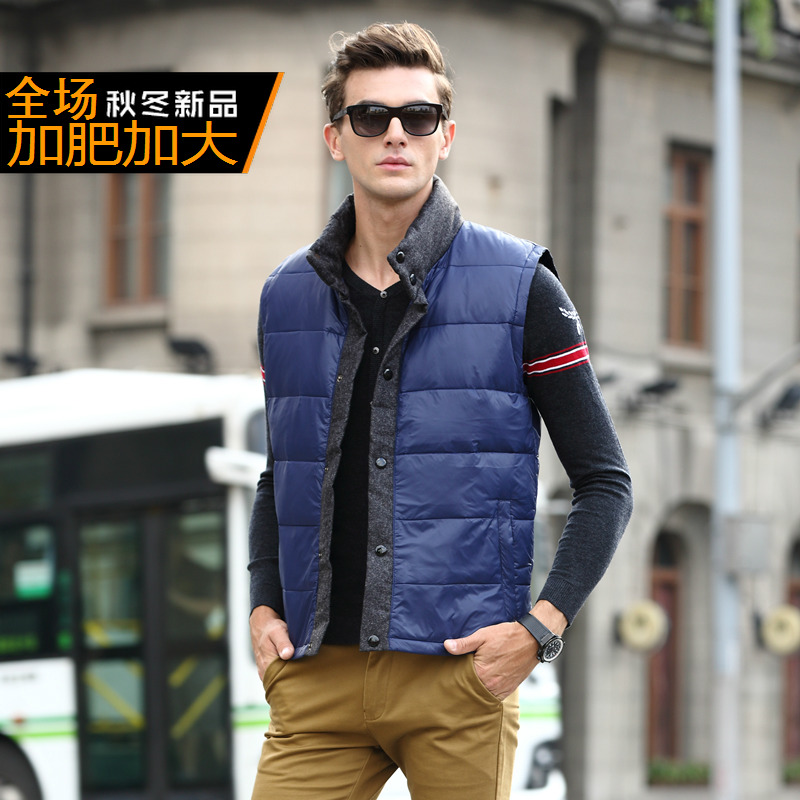 Lovely New Arrival Male Winter Fashion Down Vest Thermal Obese Waistcoat Plus Size Xl-4xl 5xl 6xl 7xl 8xl 9xl 10xl 11xl 12xl 13xl Lustrous