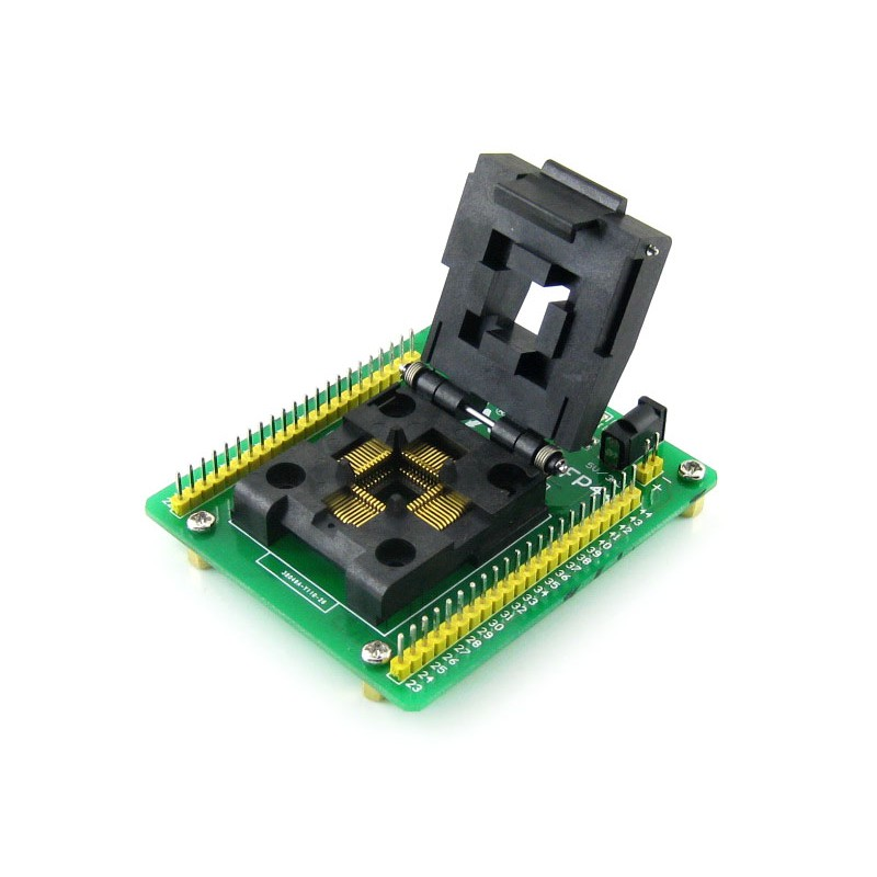 цена на STM8-QFP44 # Programming Adapter IC Test Socket for STM8 QFP44 LQFP44 Package 0.8mm Pitch with SWIM Port