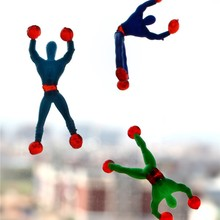 10pcs/lots Climbing Spider-Man action figure toys Cabinets doors walls glass Creative Classic Toys educational spiderman toys