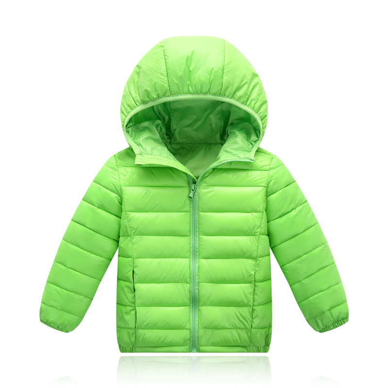 Girls Winter Coat Fashion Winter Jackets Boys Parkas for Girl Hooded Zipper Solid Down Jacket for Girl 7 Colors Unisex 100-155cm