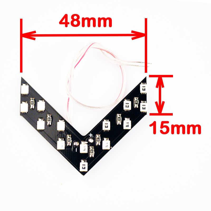 1 CÁI Tạo Kiểu Xe 14 SMD LED Mũi Tên Panel Vàng Xanh Màu Xanh đỏ Cho Car Rear View Gương Chỉ Rẽ Đèn Tín Hiệu đậu xe