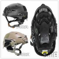 Exfilタクティカルバンプヘルメット迅速な反応タクティカルヘルメット狩猟キャップ(bk、デ、fg)