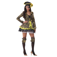 Sexy Women Pirate Cosplay Halloween Party Costumes Deluxe Pirate Dress Pirate Costume Adult Cosplay Fantasias Costumes