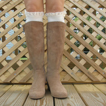 3096  Womens Lace Boot Socks for Knee High with 5 Colors options,Free Shipping