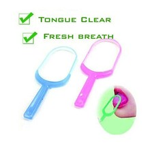 цены на clareador denMouth Hygiene Care Oral Tongue Cleaner dental Scraper Fresh breath maker oral hygiene personal care teeth whitening  в интернет-магазинах