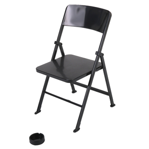 1/6 Folding Chair Ashtray for 12 inch Action Figure Toys Sideshow Doll Black