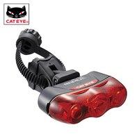 CatEye Rapid 3 Auto TL AU630 R Bike Bicycle Rear Intelligent Light MTB Bike Taillight 3 High Power LED Waterproof Cycling Lamp