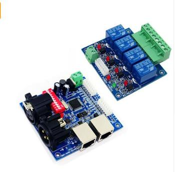 цена на best price DC12V main-board & DMX-RELAY-4 channel dmx512 relays decoder use for led lamp