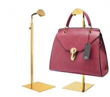 d0aeb1eb3a7 Offre spéciale haute qualité or sac à main présentoir en acier inoxydable  hommes femmes sac