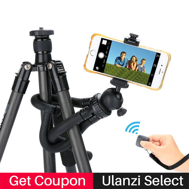 Ulanzi Octopus Smartphone Tripod Flexible Stand Adapter Gorillapod for Gopro Hero 6 5 sj40 action camera DV for iPhone 8 Mobile fosoto medium octopus flexible digital camera stand gorillapod monopod mini tripod with holder for gopro hero 2 4 3 3 and phone