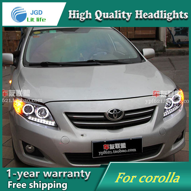 רק החוצה באיכות גבוהה רכב וסטיילינג מקרה עבור טויוטה קורולה 2007 2011 LED LZ-84