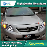 High Quality Car Styling Head Lamp Case For VW Touran 2011 LED Headlight DRL Daytime Running