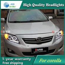 high quality Car Styling Head Lamp case for Toyota corolla 2007-2011 LED Headlight DRL Daytime Running Light Bi-Xenon HID