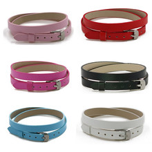 6 Colors 1pc PU Leather 8mm Wide 433mm Length Wristband Fit For Slide Essential Oil Perfume Aroma Diffuser Locket Bracelet(China)