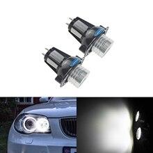 цена на ANGRONG 2x Canbus Xenon White Angel Eyes LED Marker Light No Error Halo Rings Headlight Bulbs For BMW E90 E91