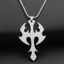 купить New stainless steel arrow dart charm pendant necklace weapon sea god trident lucky super hero sword dart titanium steel nec дешево