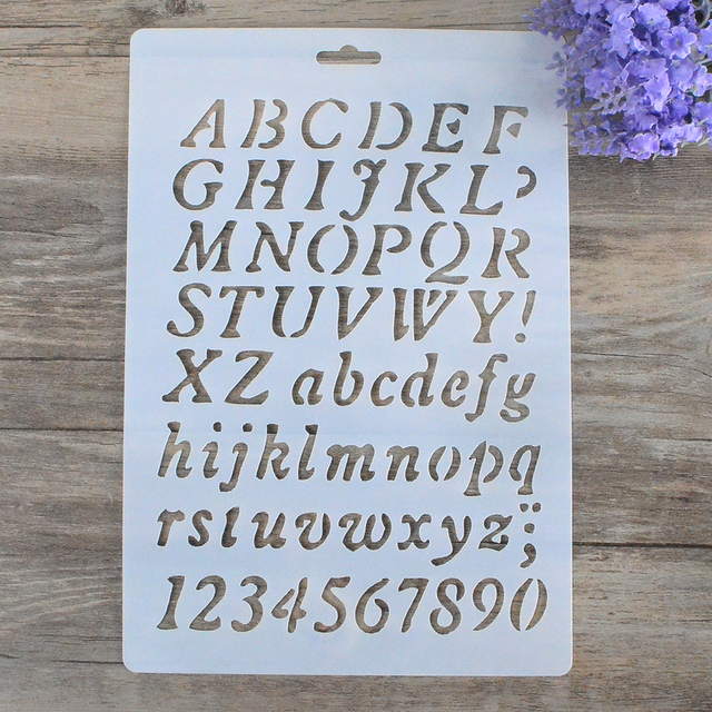 diy craft letter alphabet stencils for walls scrapbooking painting