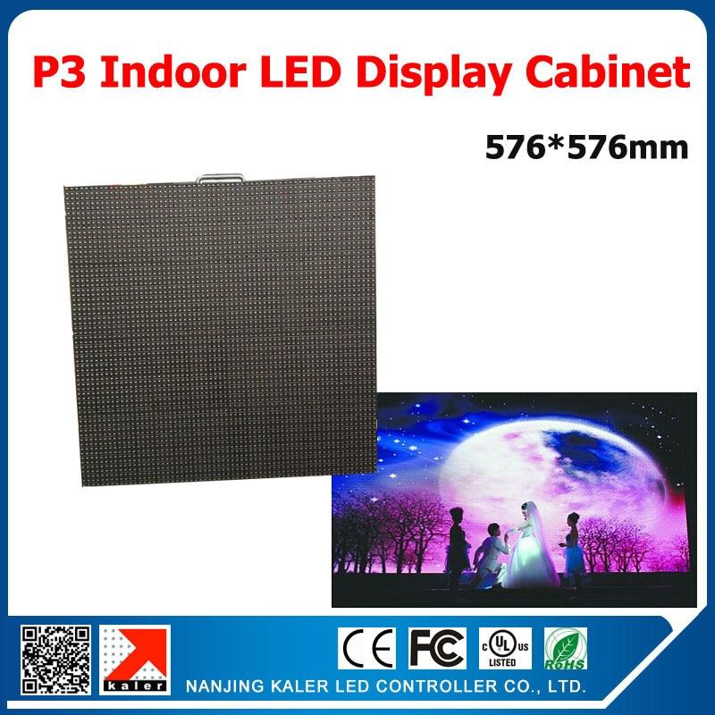 TEEHO Die-cast aluminum led cabinet 576*576mm led cabinet p3 indoor led display cabinet PANEL rental for wedding live show etc. ...