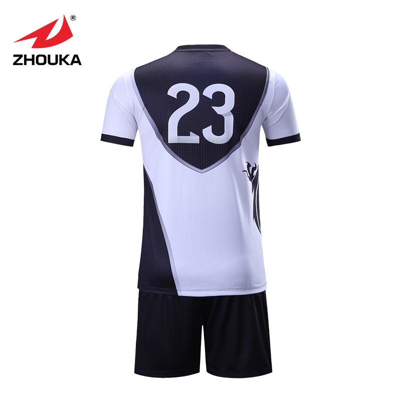 974deb40402 Sublimation quick dry football jersey polyester elastic latest design  custom football jersey uniform breathable-in Soccer Sets from Sports    Entertainment ...