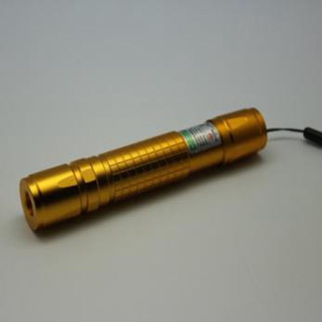 5mw Light Match 532nm Green Laser Golden Tail Switch Anodic Oxide DC3V-3.7V Copper for Climber Tool PPT Use
