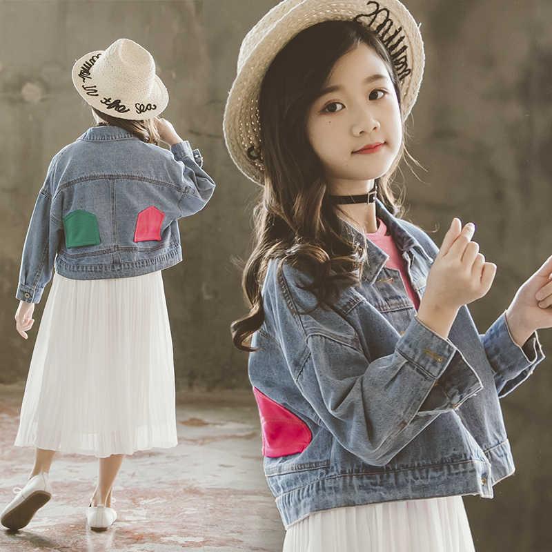 Джинсовая куртка для маленьких девочек; весенняя куртка для девочек; Повседневная модная детская верхняя одежда; Одежда для маленьких девочек; детская одежда; новые джинсовые Бутики