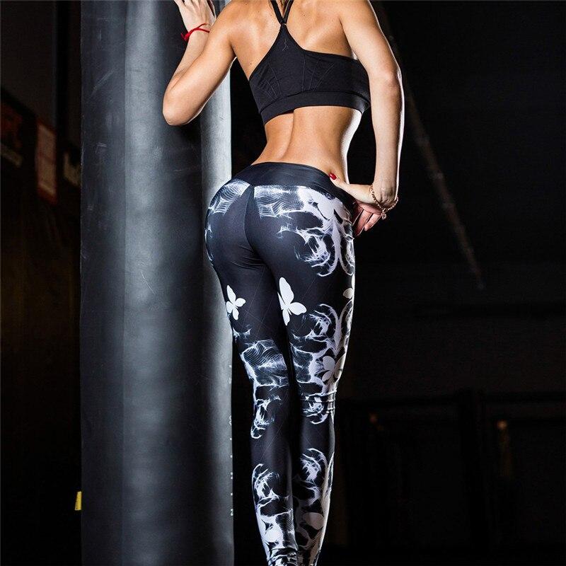Printing Elastic Yoga Pants Fitness Leggings Women Sweatpants Tights Running Sports Pants Lady Joggers Yoga Trousers