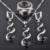 Inusual Negro Piedra Cúbica del Zirconia 925 de Plata Esterlina de Las Mujeres Juegos de Joyería Pendientes/Colgante/Collar/Anillos de Envío gratis QS028