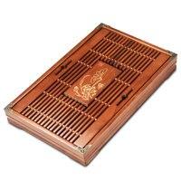 43*27*5.5cm Ke wood solid wood tea plate small Kung Fu tea table tea drainage water storage tea factory direct wholesale