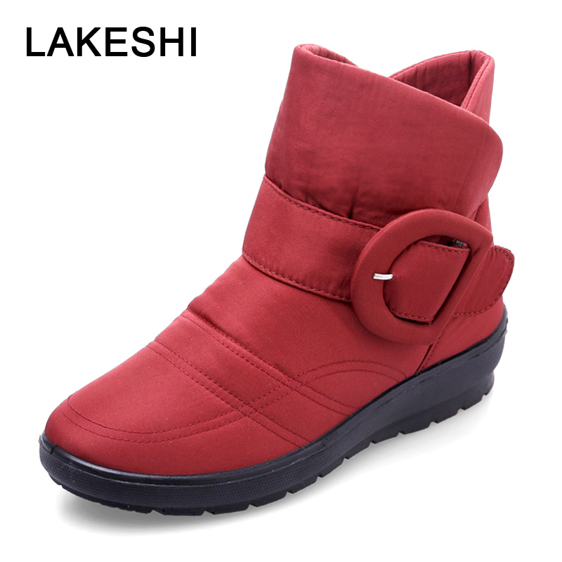 2018 New Winter Boots Plus Velvet Women Boots Warm Snow Boots Wedges Women Shoes Waterproof Non-Slip Mother Shoes Big Size 41 42 2017 women winter boots shoes snow boots blue warm snow boots down plus size 35 42 non slip platform winter boots shoes xz 29