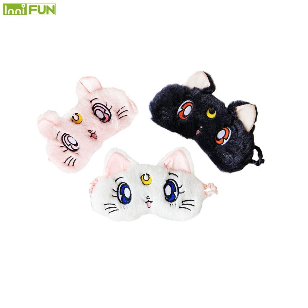 3D Weiche Eyeshade Anime Sailor Mond Schlafen Schatten Abdeckung Nickerchen Cartoon Plüsch Augenklappe Schlaf Maske 3 farben optional