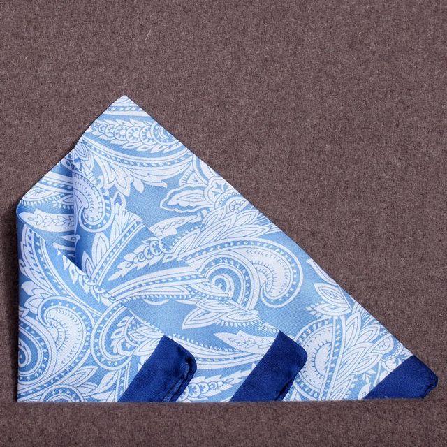 [15%] 35 х 35 см Высокое качество шелк косая полоса шелк мужской костюм карман полотенце кабинет бесплатная Доставка Синий