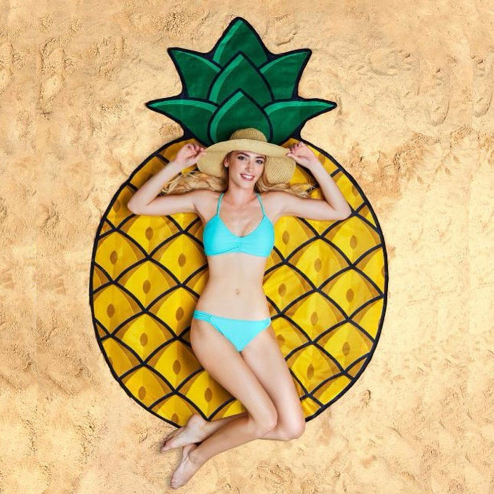 e359146c6cfc8 Pineapple Beach Towel Cover Up Sexy Beach Pareos Women Beach Bathing Suit  Bikini Cover Up sarong for Women Bathing Wear Pareo