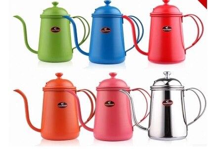 FeiC 1ks nový přírůstek 0,7 l 5color čajové a kávové kapky konvice hrnec z nerezové oceli husí krk konvice konvice pro Barista