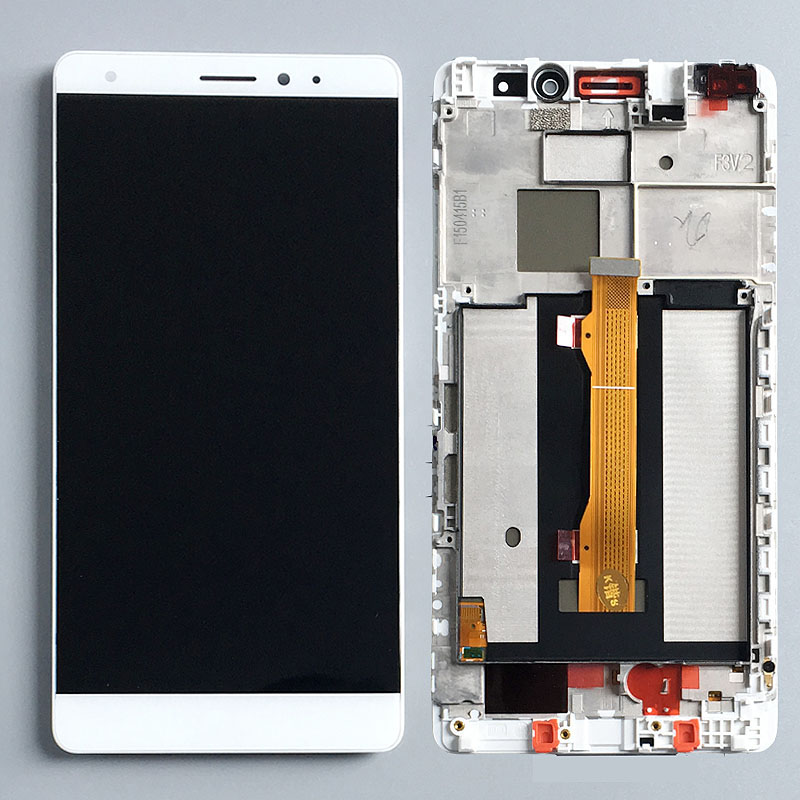 White LCD Digitizer Touch Screen Display Assembly+Frame for Huawei Mate S ReplacementWhite LCD Digitizer Touch Screen Display Assembly+Frame for Huawei Mate S Replacement
