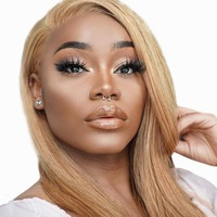 BEEOS 13*4 Lace Front Blonde Wig Pre Plucked hairline Brazilian Straight Remy Hair Honey Blonde Lace Wigs with Baby Hair