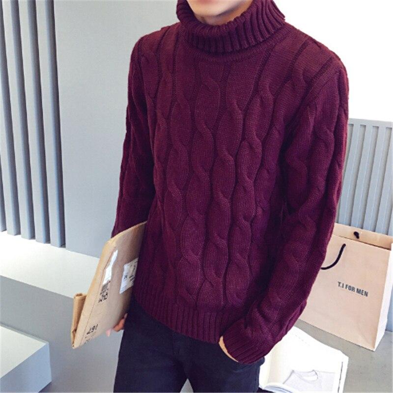 Automne hiver nouveau pull à col roulé mâle de chandail hommes mince sous-vêtements chemise mode et loisirs chandails