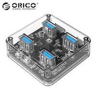ORICO Transparent 4 Ports USB 3 0 HUB For Desktop Laptop With 30 100 CM Data
