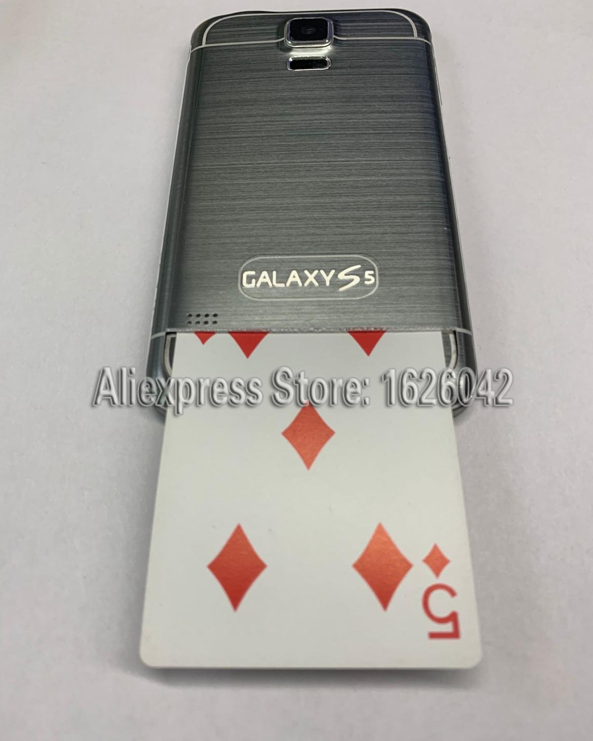 XF Black Plastic Samsong S5 Mobile Poker Cheat Device|Gambling <font><b>Cheating</b></font> Devices|Poker trick Gamble Magic <font><b>Cheating</b></font> Systems image