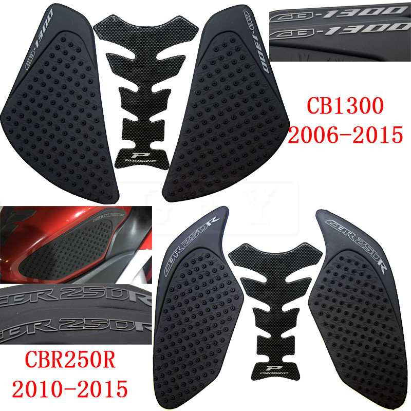 For Honda CB1300 2006-2015 CBR250R 2010 2011 2012 2013-2015 Protector Anti Slip Fiber Tank Pad Tank Side Traction 3M Sticker