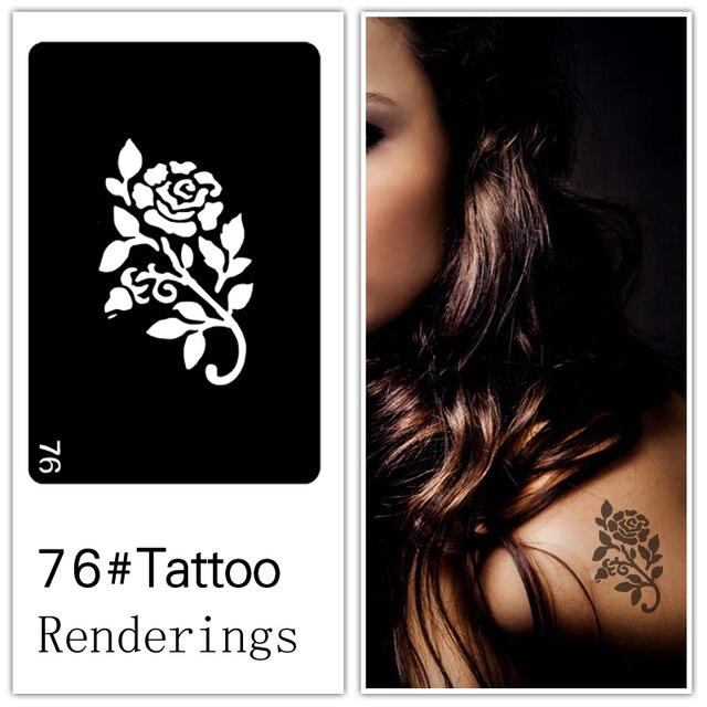Одноразовые татуировки трафарет, съемный, художественное творчество, модно, кожа доступна, татуировки, цветы, растения, Розы, 076