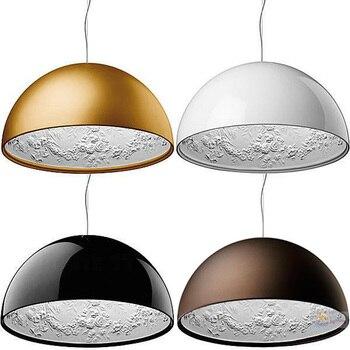 Cafetería Italiana Dia40-60 Cm Blanco/Negro/dorado/marrón Lámparas Colgantes Accesorio Gran Lámpara De Resina Para Comedor