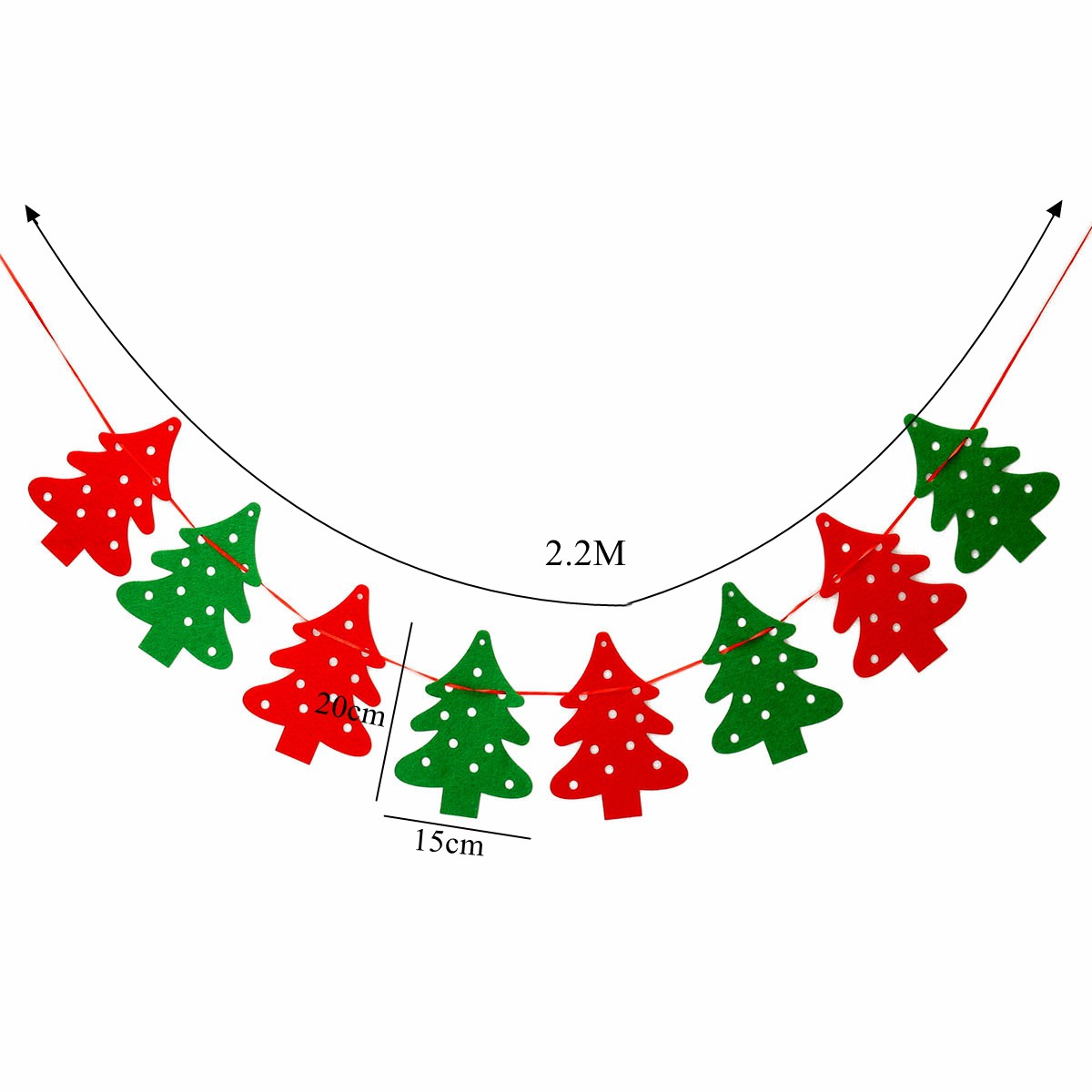 Xmas Tree Banner Garland Hanging Bunting Merry Christmas Decorations DIY Vintage Party Birthday Baby Shower Decoration In Pendant Drop Ornaments From Home