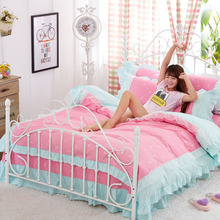 100% Cotton Comforter Luxury Bedding sets 4pcs set Bedspread bedclothes For Kids Girl Lady with Bed sheet Duvet cover Pillowcase