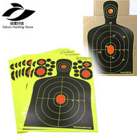 25/50/100pcs Silhouette Sticker Targets 9.5*14.5 Adhesive Stick & Splatter Reactive Man Silhouette Shooting Targets for Gun