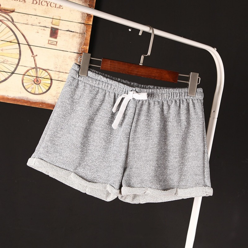 Summer New Women Elastic Waist Tunic Drawstring Elegant Beach Pocket Cuffs Casual Brand Shorts 8